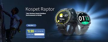 <b>Kospet Raptor Outdoor</b> Smartwatch Global Launch with Best Price
