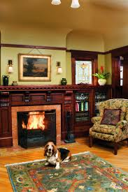 fascinating craftsman living room chairs furniture: the house in portland oregon has a foursquare plan typical of its  date but it is decked out in artistic craftsman details inside