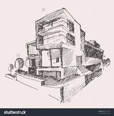 architect draft of modern new house engraving vector illustration save to a lightbox medical office architect office supplies