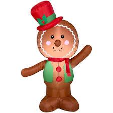 Christmas <b>Airblown</b> 4' <b>Gingerbread Man Inflatable</b> - Walmart.com ...