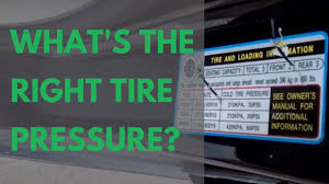 How to Know the Correct <b>Tire Pressure</b> for Your <b>Car</b> - YouTube