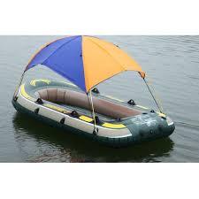 2 Person Inflatable PVC <b>Boat Sun Shelter</b> Awning <b>Sun Shade</b> Rain ...