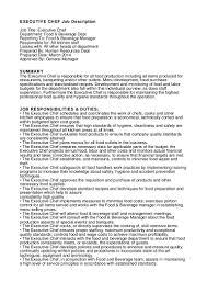 cover letter chef description description chef de rang executive cover letter chef job description resume cook for line example samplechef description extra medium size
