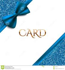 invitation decorative card template blue bow and glitter invitation decorative card template blue bow and glitter