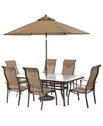 patio table and 6 chairs: oasis outdoor aluminum  pc dining set quot x