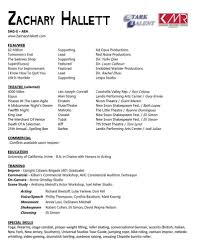 resume zachary hallett picture