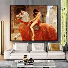 <b>Lady Godiva by John</b> Collie Nude Woman Canvas Painting Posters ...