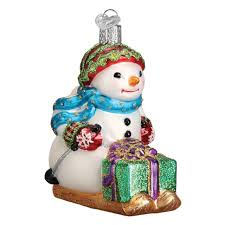 Lovely 30cm <b>Christmas</b> Figure Resin <b>Skiing Snowman</b> Figure ...