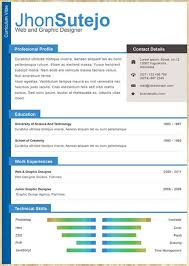 amazing collection of free cv resume templatesprofessional one page resume