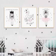 Kawaii Bear Fox <b>Canvas</b> Art Posters <b>Woodland Animal Cartoon</b> ...