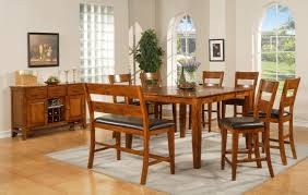 varnished pine wood dining table tall most visited ideas in the inspiring dining room design ideas using din