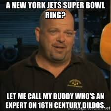 a new york jets super bowl ring? Let me call my buddy who's an ... via Relatably.com