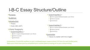 welcome ap family please take out your sustained silent i b c essay structure outline 61607 purpose 61607 audience 61607 introduction 61607 thesis