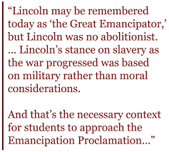 Rethinkin      Lincoln on the    th Birthday of the Emancipation     Rethinkin      Lincoln on the    th Birthday of the Emancipation Proclamation   Zinn Education Project