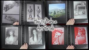 how to make an art portfolio how to make an art portfolio
