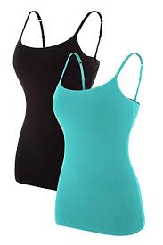<b>CharmLeaks</b> 2 Pack <b>Womens</b> Cotton <b>Camisole</b> Sleeveless <b>Cami</b> ...