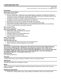 law enforcement and security cv examples  amp  templates   livecareerneil f    security management cv   manchester  lancashire
