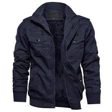 TACVASEN <b>Men's</b> Winter Jacket-Fleece <b>Cotton</b> Military Coat ...