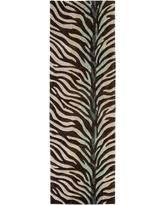 hand tufted brownblue zebra animal print retro chic rug 26 chic zebra print rug