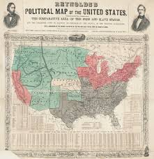 lincoln the north and the question of emancipation digital image of reynolds s political map of the united states designed to exhibit the comparative area