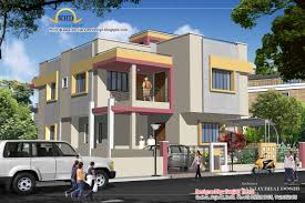 Duplex House Plan and Elevation   Sq  Ft    Kerala home    Duplex House Plan and Elevation   Sq M   Sq  Ft