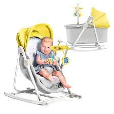 <b>Колыбель</b>-<b>шезлонг Kinderkraft UNIMO</b> Yellow — купить в ...