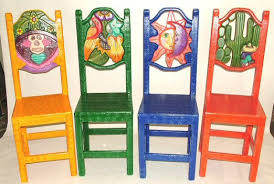 carved painted chairs tables restaurant funiture home bright painted furniture