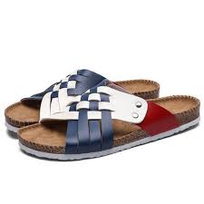 PU Men Summer Fashion Beach Shoes Woven Belt <b>Sandals Casual</b> ...