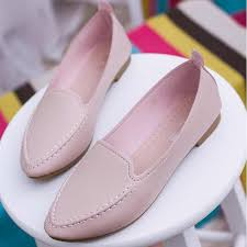 <b>Women</b> Flats Summer <b>Style</b> Casual Solid <b>Pointed</b> Toe Slip On Flat ...