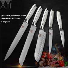 <b>XYj</b> Best Quality Kitchen Knife Set <b>3Cr13mov Stainless</b> Steel Chef ...
