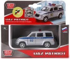 <b>Машинка Технопарк УАЗ-Патриот</b> Полиция 1:50 - купить в ...
