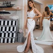 LORIE Sexy Two Piece Mermaid Wedding Dresses with Side Split ...