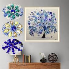2019 <b>Diamond Embroidery Winter Flower</b> Tree 30*30cm Special ...