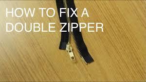How to Fix/Repair a <b>Double</b> Slider <b>Zipper</b> (Two Way Separating ...