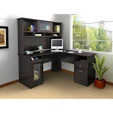 Computer Desk Cabinet Office Awesome Black Wood Office Desk L Shape Cabinet Drawer
