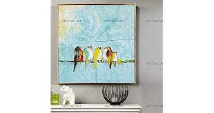 CHZDYH Oil <b>Painting Artist Hand</b>-<b>Painted</b> Funny Design 5 Birds On ...