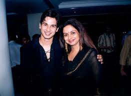 Shahid Kapoor and Mother Neelima Azim