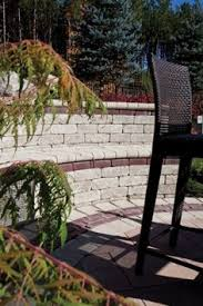 gallery outdoor living wall featuring: outdoor living seat wall featuring unilock brussels dimensional wall