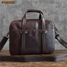 <b>PNDME</b> High Quality <b>Vintage Genuine Leather</b> Men'S Briefcase ...