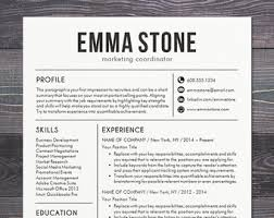 resume template cv template for word mac or pc professional resume design free cover letter creative modern teacher the emma black modern professional resume templates