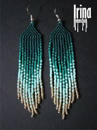 Gradient <b>seed bead</b> earrings. Native american earrings. Ombre ...