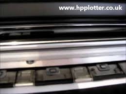 <b>HP DesignJet</b> 5000 repairs - Check print head path error - YouTube