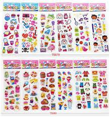 12pcs <b>3D stereoscopic cartoon</b> puffy stickers lot <b>Wall</b> car kids ...