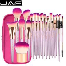 JAF 26/<b>9 pcs Travel Makeup Brushes</b> with Zipper Case Graceful ...