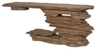 "88"" W Driftwood <b>Console Table</b> One of a Kind <b>Solid Mindi</b> Wood ..."