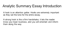 writing portfolio mr butner writing portfolio due date analytic summary essay introduction a hook is an attention getter