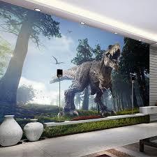 <b>Custom 3D Photo Wallpaper</b> Forest Dinosaur Stereoscopic Living ...