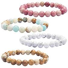 YISSION Lava Rock Stone <b>Bracelet Natural</b> Semi Precious