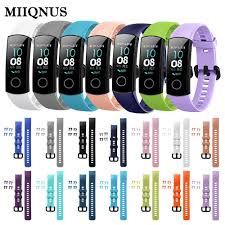 MIIQNUS 1PC Sports Bracelet <b>replacement Colorful</b> Classic <b>Silicone</b> ...