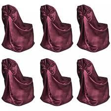 LYUMO <b>6 pcs Burgundy Chair</b> Cover for Wedding Banquet ...